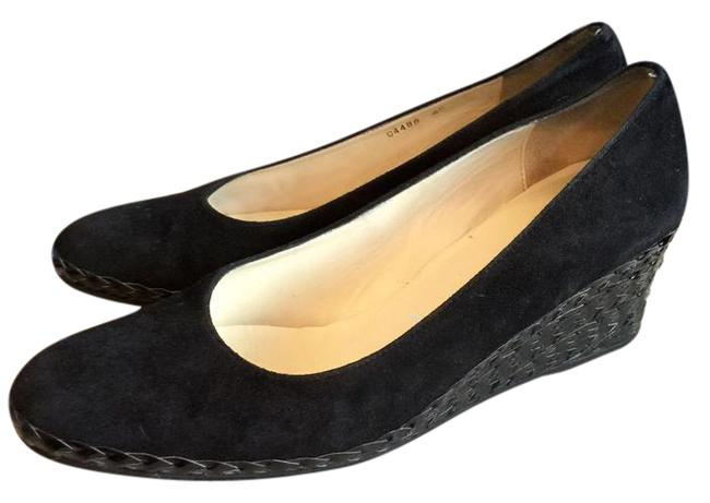 Item - Black Suede with Braided Heal Wedges Size US 10 Regular (M, B)