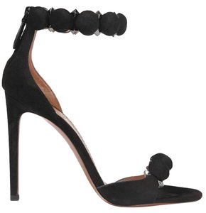 ALAA Studded Suede Alaia Pumps Black Sandals