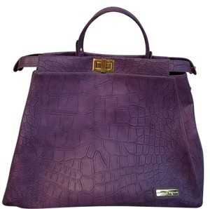 Adrienne Vittadini Satchel in Purple