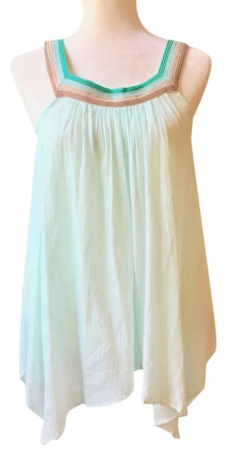 Preload https://img-static.tradesy.com/item/21711353/calypso-st-barth-pale-blue-turquoise-teal-copper-gold-yellow-light-gauzy-lightweight-blouse-size-8-m-0-1-650-650.jpg