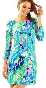Lilly Pulitzer short dress Multi Cat Sun Protection Button on Tradesy