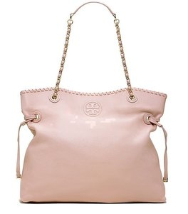Tory Burch Marion Slouchy Leather Tote in Oak