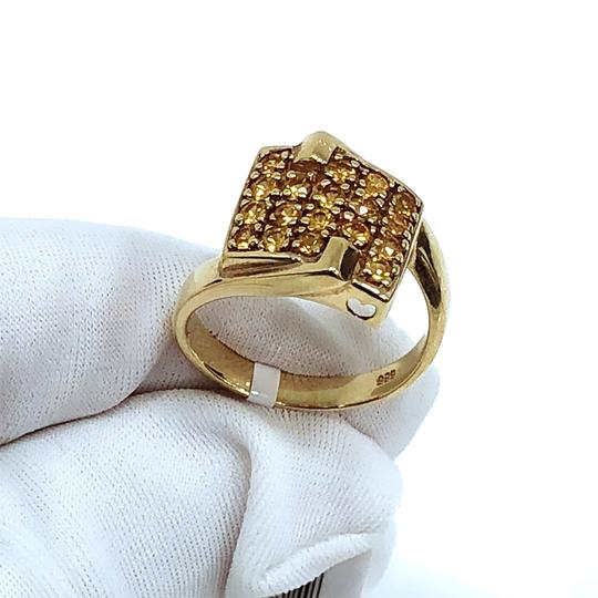 Other 14K Yellow Gold Yellow Crystal Ring UK 7 Image 1