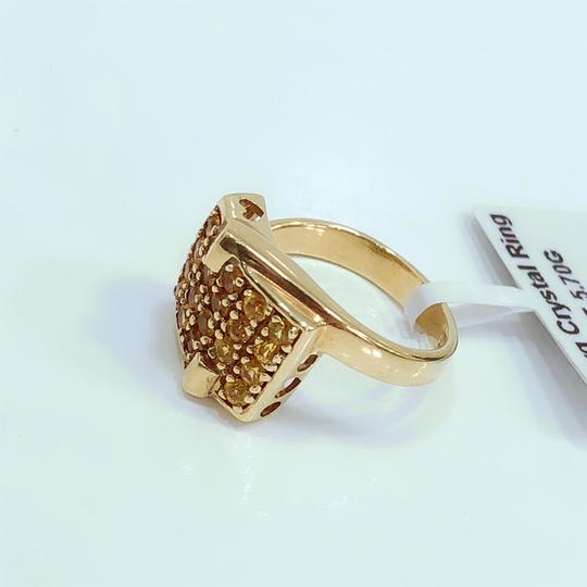 Other 14K Yellow Gold Yellow Crystal Ring UK 7 Image 2