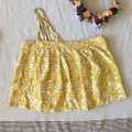 Anthropologie Floreat Gold Yellow One Shoulder Embroidered Top Image 1