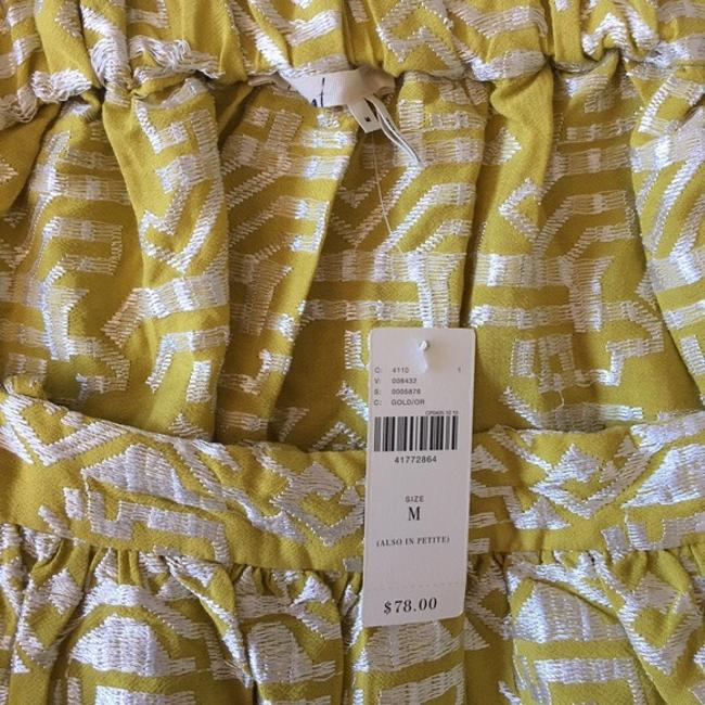 Anthropologie Floreat Gold Yellow One Shoulder Embroidered Top Image 3