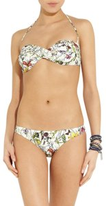 Gucci White, green multicolor Gucci Flora two-piece swimsuit M