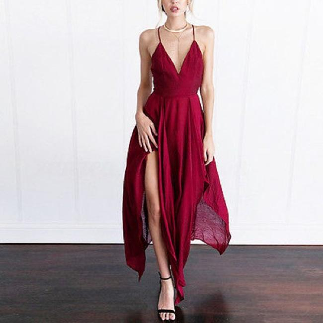 Berry-Red Maxi Dress by Tory's Timeless Treasures Boutique Image 3