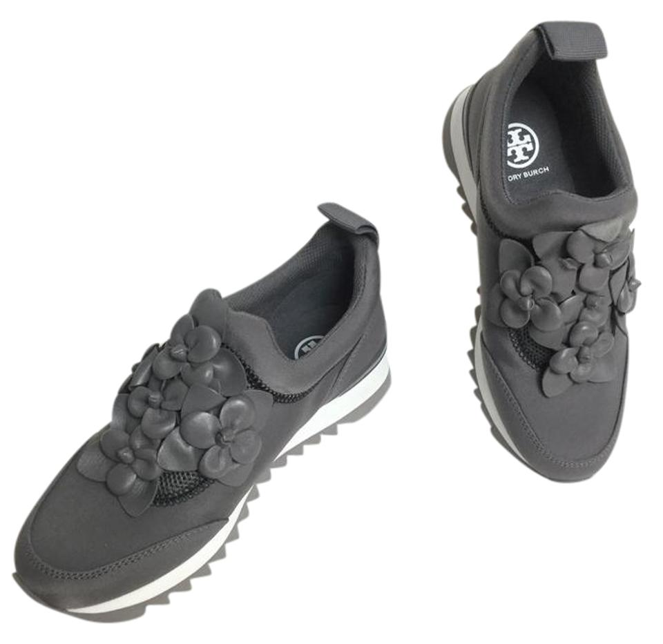 541dc5112f3fc Tory Burch Grey Blossom Leather Sneakers Sneakers Size US 6.5 ...