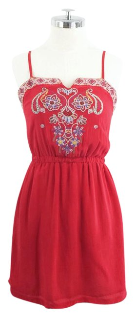 Preload https://img-static.tradesy.com/item/21711724/line-and-dot-red-o-embroidered-silk-short-casual-dress-size-8-m-0-1-650-650.jpg