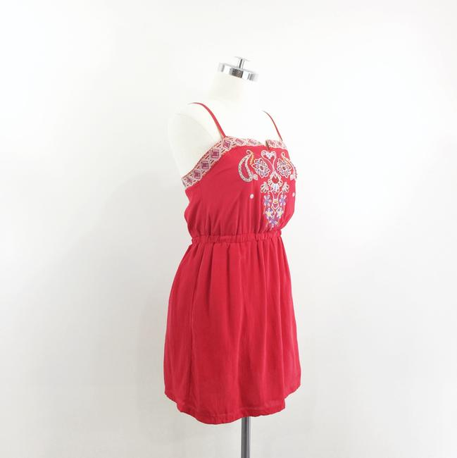 Line & Dot short dress red Embroidered Silk on Tradesy Image 1