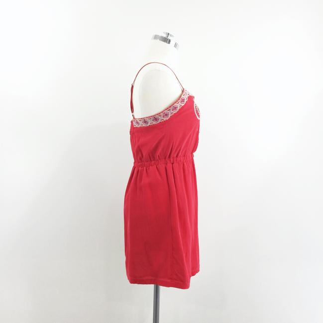 Line & Dot short dress red Embroidered Silk on Tradesy Image 2