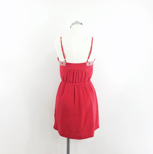 Line & Dot short dress red Embroidered Silk on Tradesy Image 3