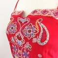 Line & Dot short dress red Embroidered Silk on Tradesy Image 7