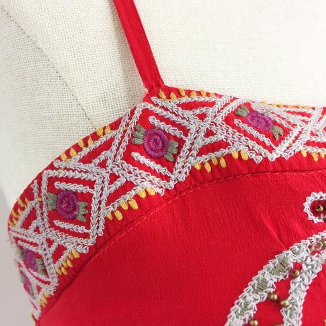 Line & Dot short dress red Embroidered Silk on Tradesy Image 8