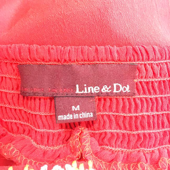 Line & Dot short dress red Embroidered Silk on Tradesy Image 9
