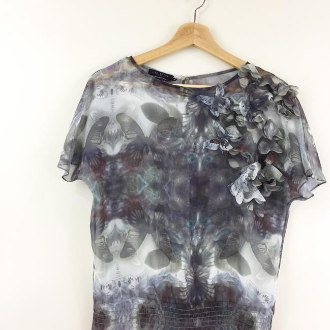 Ted Baker Butterfly Print Applique Gold Top multicolored Image 5