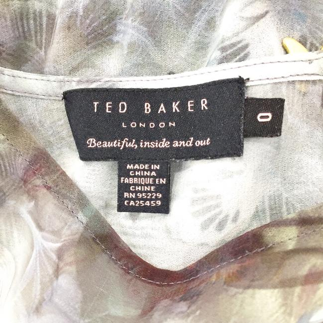 Ted Baker Butterfly Print Applique Gold Top multicolored Image 9