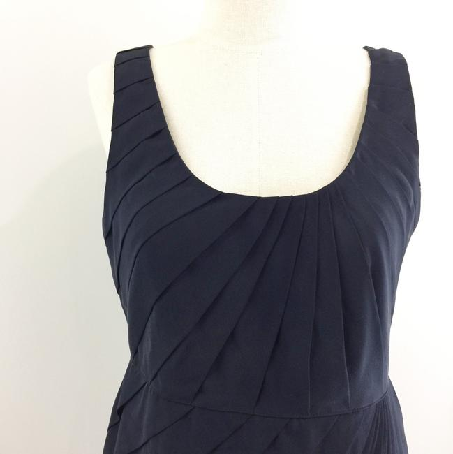 Madison Marcus short dress black Sheath Pleated Silk on Tradesy Image 3