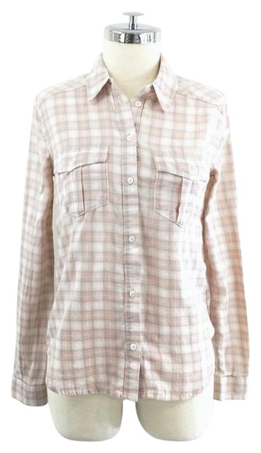 Item - Pink O Plaid Flannel Shirt Button-down Top Size 2 (XS)