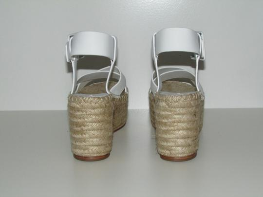 Céline Optic White Leather Wedges Image 2
