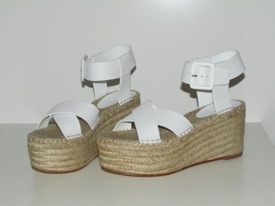 Céline Optic White Leather Wedges Image 6