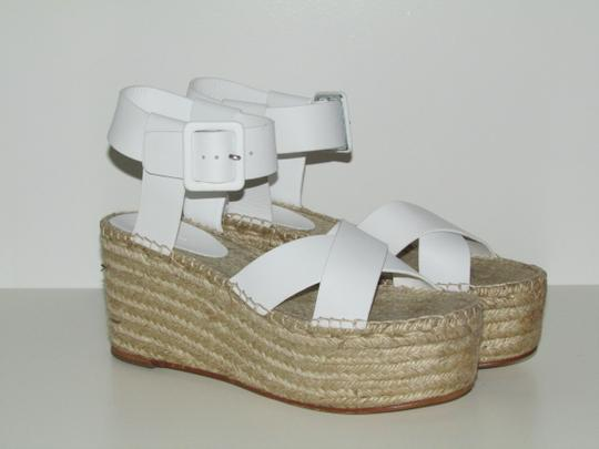 Céline Optic White Leather Wedges Image 7