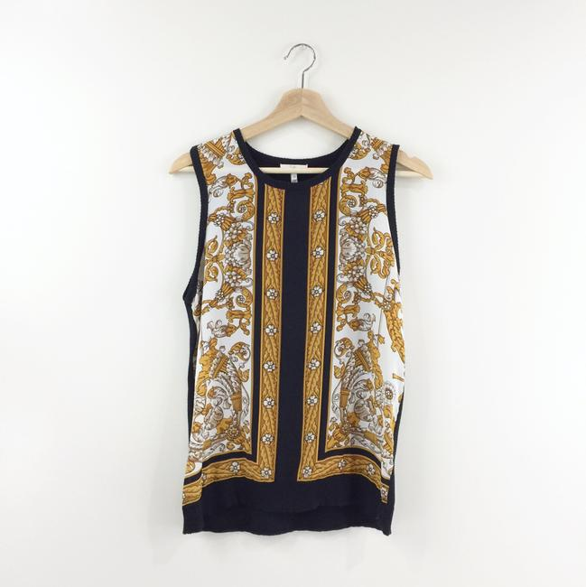 Joie Printed Silk Tank Knit Sweater Image 2