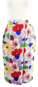 Tucker Silk Fold Over Skirt floral