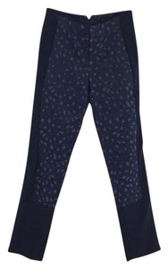 Marc by Marc Jacobs Leapard Jacquard Tuxedo Stripe Skinny Pants navy