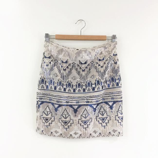 Capulet Sequin Tribal Mini Skirt blue Image 5