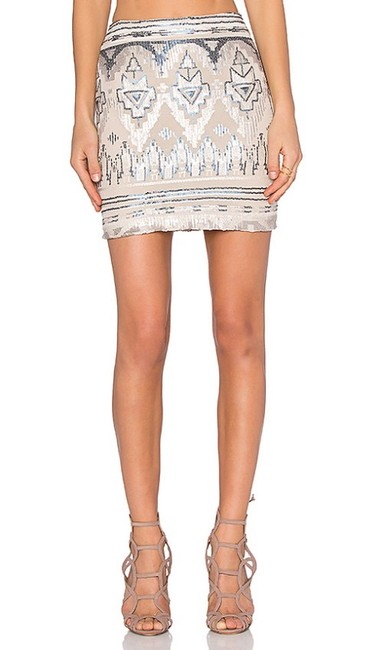 Capulet Sequin Tribal Mini Skirt blue Image 9