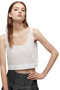 Rag & Bone Lakewood Eyelet Crop Top white