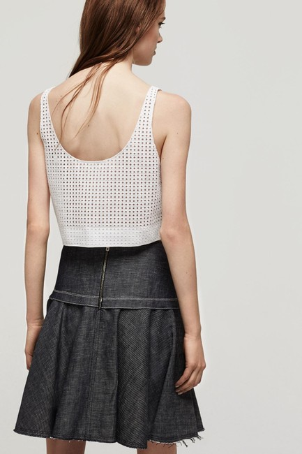 Rag & Bone Lakewood Eyelet Crop Top white Image 1