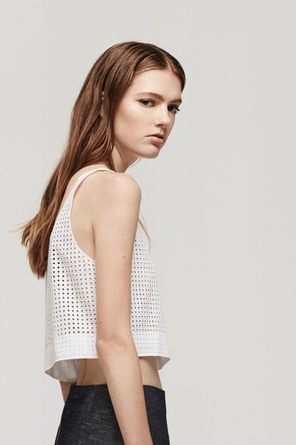 Rag & Bone Lakewood Eyelet Crop Top white Image 2