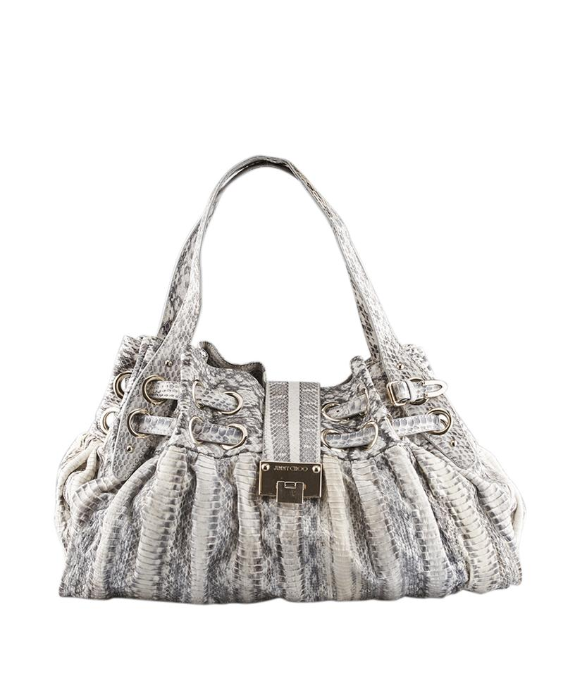 40c8c373dd1 Jimmy Choo Ramona White Embossed Python (128489) Whitexgrey Leather ...