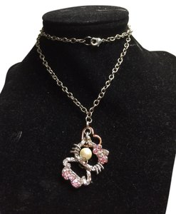 Hello Kitty Custom Made Hello Kitty pink rhinestone necklace