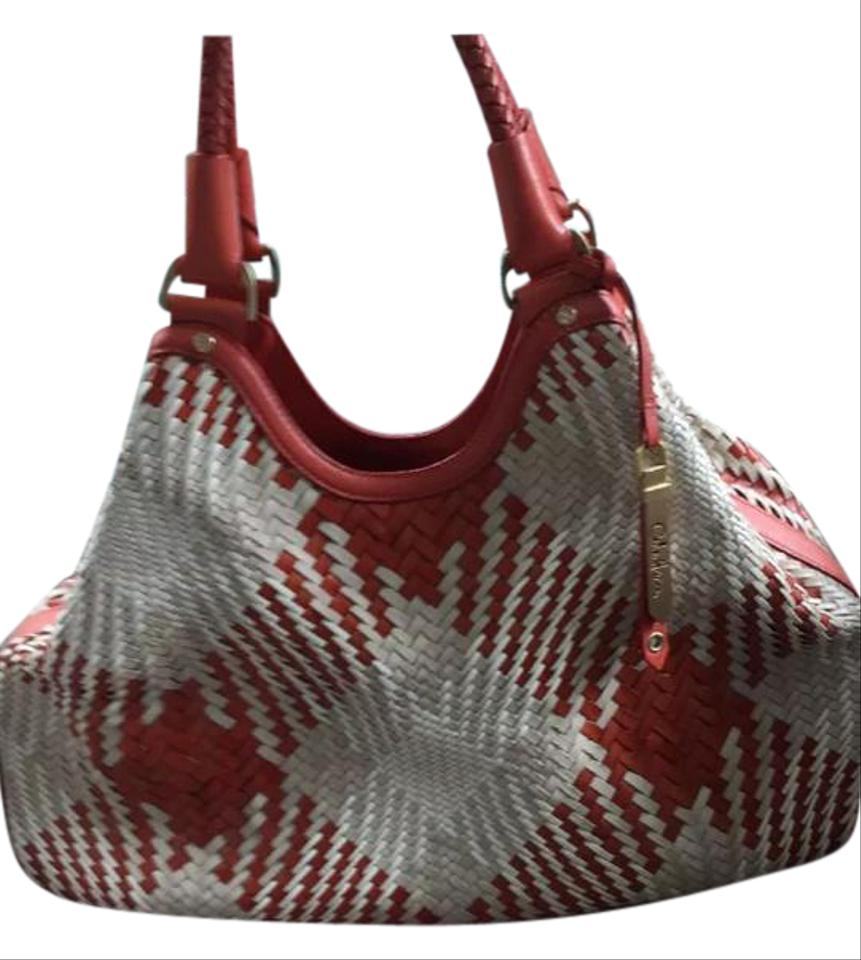 507b79a953 Cole Haan Genevieve Weave Triangle X-lg Leather Excellent Condition Hobo  Bag Image 0 ...