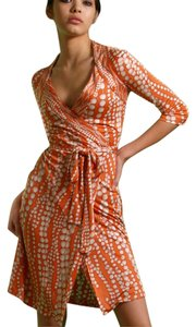 FLORA KUNG String Wrap Salmon Dress
