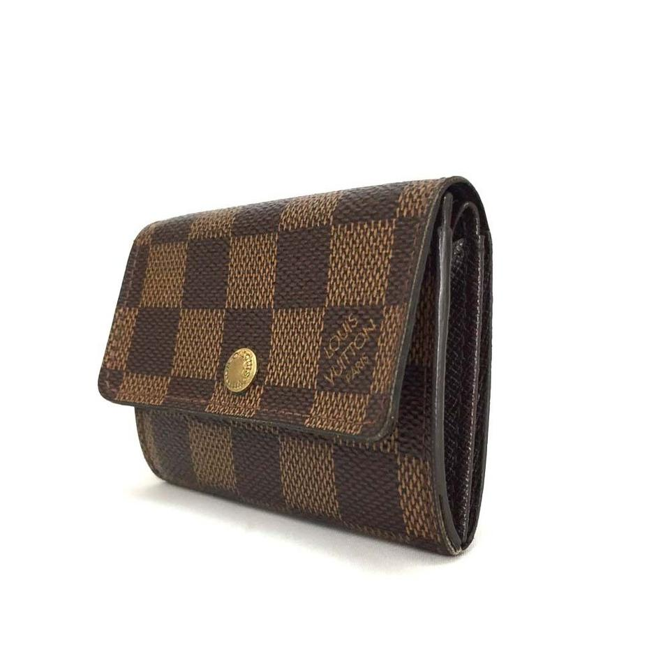 d9067c8194a2 Louis Vuitton Authentic Louis Vuitton Damier Porte Monnaie Plat Coin Purse  Mens Image 0 ...