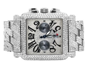 Franck Muller Mens Conquistador Cortez Iced Out Diamond Watch 31.50 Ct