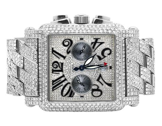 Preload https://img-static.tradesy.com/item/21713057/franck-muller-stainless-steel-mens-conquistador-cortez-iced-out-diamond-3150-ct-watch-0-0-540-540.jpg