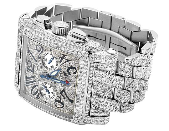 Franck Muller Mens Conquistador Cortez Iced Out Diamond Watch 31.50 Ct Image 4