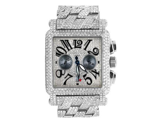 Franck Muller Mens Conquistador Cortez Iced Out Diamond Watch 31.50 Ct Image 5