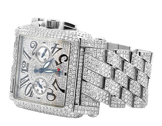 Franck Muller Mens Conquistador Cortez Iced Out Diamond Watch 31.50 Ct Image 7