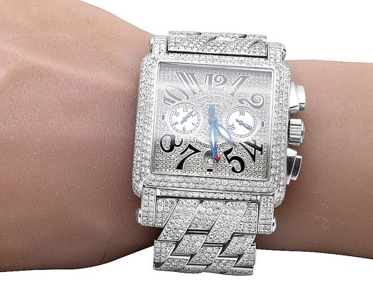 Franck Muller Mens Conquistador Cortez Iced Out Diamond Watch 31.50 Ct Image 8