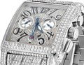 Franck Muller Mens Conquistador Cortez Iced Out Diamond Watch 31.50 Ct Image 9