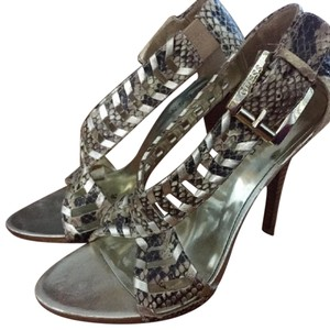 Guess Stiletto Gold/Snakeskin Sandals