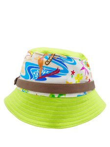 Dsquared2 Dsquared Lime Green Beach Print Sz M Bucket Hat,