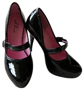 Ellie Shoes Black patent leather Platforms